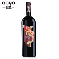 傲鱼AOYO智利原瓶原装进口红酒 梅洛干红葡萄酒2018年1500ml*1