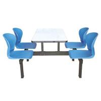 金励成49-4# 食堂餐桌椅工厂学校生员工4人6人8人连体快餐桌椅组合不锈钢餐桌