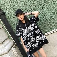 日韩风时尚个性原宿少女装中学生大学生软妹短袖BF风T恤女生夏季