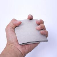 原创手工简约创意个性可水洗牛皮纸钱包很薄短竖款迷你卡包潮男女