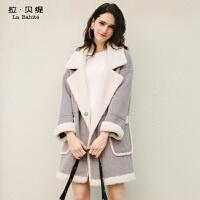 羊羔毛外套2018秋冬季新款韩版学生中长款chic羊毛呢子大衣女士