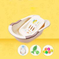 大号厚 婴儿浴盆宝宝洗澡盆可坐躺通用洗头儿童沐浴桶