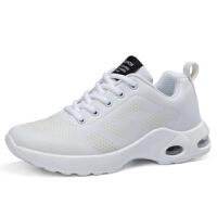 运动鞋女四季新款百搭韩版黑红色休闲气垫网鞋旅游跑步鞋健身操鞋