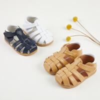 新品宝宝凉鞋男童包头夏季婴儿鞋女宝宝鞋子