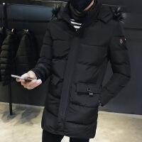 棉衣男中长款2018新款冬季韩版潮流加厚大码青年连帽羽绒外套
