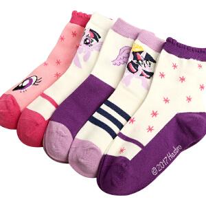 kk树小马宝莉防滑袜子儿童棉袜秋冬女童保暖可爱小孩袜子童袜防臭