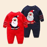 0-1岁男宝宝连体衣冬棉加厚婴儿外穿6-12个月新生儿哈衣女童3