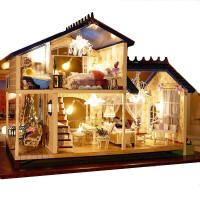 手工创意diy小屋情人节制作拼装房子模型大别墅送生日礼物女生