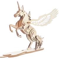 3D立体拼装模型手工仿真积木质儿童动物拼图玩具