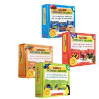 英文原版认识绘本 Scholastic Guided Science ABCDEF 4盒 学乐出品科 学启蒙辅导图书