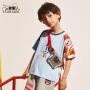 小虎宝儿男童短袖t恤潮童韩版2020夏季新款洋气儿童休闲上衣潮流