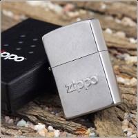 美国芝宝Zippo打火机 镀铬/花砂/凸刻 21193名牌压印