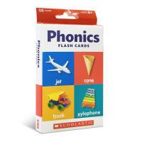 英文原版 Flash Cards: Phonics 儿童认知学习实物闪卡盒装宝宝家庭教育 亲子玩具家庭和睦卡片英语启蒙