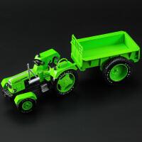 新品合金复古拖拉机工程车仿真模型带车斗农用车模型玩具