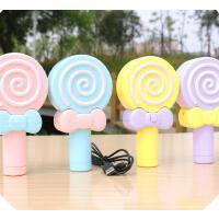 波板糖棒棒糖小电风扇迷你USB可充电手持儿童学生便携手拿小风扇