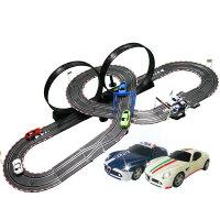 儿童男孩赛车电动遥控玩具节日礼物双人赛道汽车套装轨道