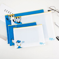 kinbor【广博】迪士尼拉链文件袋唐老鸭塑料资料袋学生试卷袋补习袋办公文件公文袋档案袋作业袋