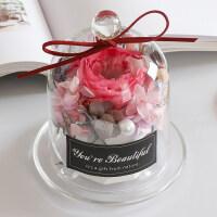 进口永生花玻璃罩香薰康乃馨diy表白礼物生日保鲜玫瑰情人节礼盒礼品