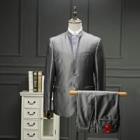 一线剪标撤柜男装中华立领男式西服套装中国风西装套西外套春装
