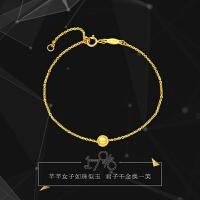 周大福 珠宝17916系列精致时尚22K金手链E122257>>定价