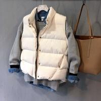 马甲女士外套冬季新款短款韩版潮宽松学生加厚棉衣外套面包羽绒棉马夹