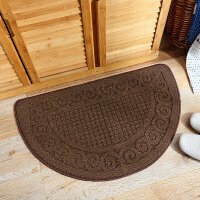 欧式复古半圆地垫地毯 进门门口门垫卫生间卧室入户门厅玄关脚垫