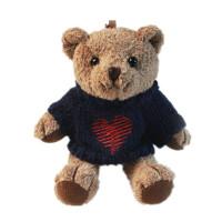 小熊公仔钥匙扣男女汽车钥匙链 可爱情侣毛绒挂饰包包挂件
