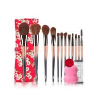 12支美人化妆刷套装全套初学者化妆工具眼影刷腮红散粉刷创意礼物节日礼品 人造纤维
