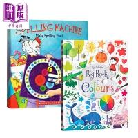 【中商原版】Spelling Machine /Big book of colours 低幼色彩字母启蒙2册 益智游戏书