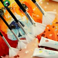 马利牌水粉丙烯油画专用扇形笔画笔全套单支尼龙毛手绘笔刷美术学生画画刷子批发画具工具板刷画刷颜料笔套装