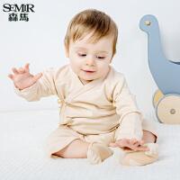 森马婴童睡衣冬季连体衣宝宝长袖哈衣纯棉爬爬服新生儿