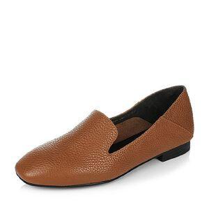 Belle/百丽2017春专柜同款舒适简约荔纹牛皮女单鞋BLN27AM7