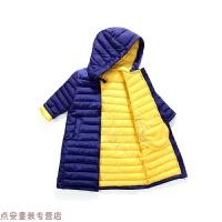 冬季�和�棉�\女童中�L款�B帽羽�q男女����棉衣�n版中大童冬�b秋冬新款