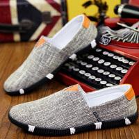 韩版潮流板鞋布鞋休闲男鞋潮鞋子男春夏季男士帆布鞋一脚蹬懒人鞋
