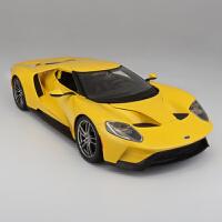 家居摆件1:18福特GT汽车模型仿真合金跑车模型金属车模型摆件送男友儿童礼品