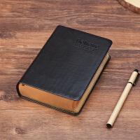 欧式创意超厚学生日记本子复古加厚皮面笔记本文具A5圣经本记事本