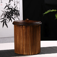 实木竹制品茶水桶茶桶茶渣桶功夫茶具配件废水桶排水桶茶叶垃圾桶
