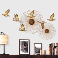 创意壁挂家居客厅挂饰背景墙壁饰立体铁艺墙面装饰挂件