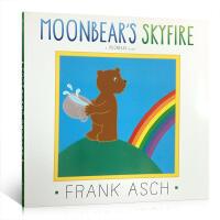 英文原版 Moonbear's Skyfire月亮熊:天空着火了 Frank Asch 法兰克艾许 儿童平装亲子趣味故