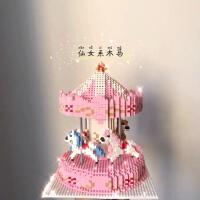 乐高积木女孩子旋转木马6岁益智8成年大人结婚的礼物冰雪奇缘城堡
