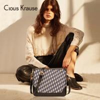 Clous KrauseCK2019新款女包百搭ins托特包休闲单肩包大容量百搭斜跨包中包