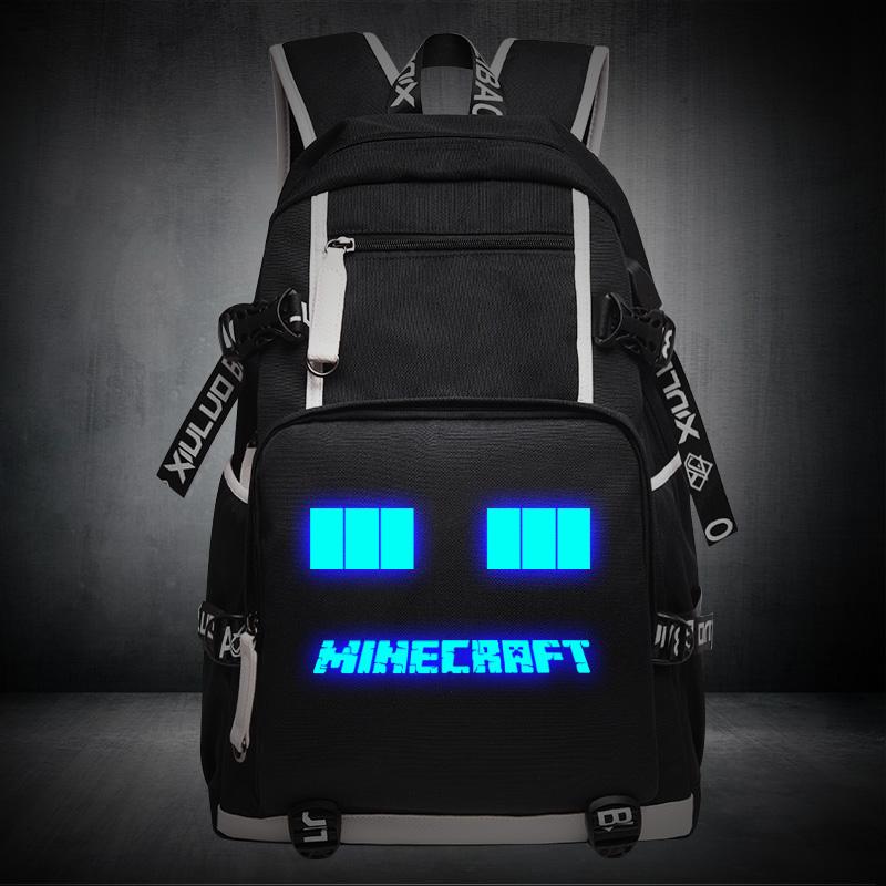 我的世界书包Minecraft夜光男女中小学生游戏周边双肩背包苦力怕