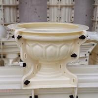 欧式水泥花盆模具加厚塑料自制小号圆花盆罗马模型建筑模板磨具创意
