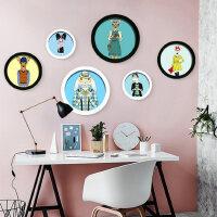 欧式圆形个性照片墙 简约现代挂墙相框墙创意组合
