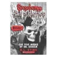 英文原版儿童书 Goosebumps Hall of Horrors #3: The Five Masks of Dr