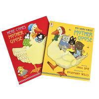 【顺丰速运】英文原版点读版鹅妈妈童谣2册套装 My Very First Mother Goose 廖彩杏书单英语童谣
