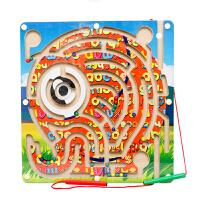 迷宫游戏女孩男宝宝儿童玩具适合2-7岁木制磁性笔