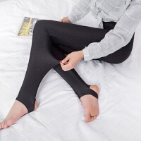 加绒踩脚光泽裤秋冬季加厚九分高腰显瘦长裤保暖外穿一体打底裤女