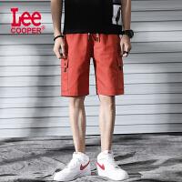 Lee Cooper青年潮男街拍必�淠醒b大�a��松休�e五分�多口袋短�男士短�