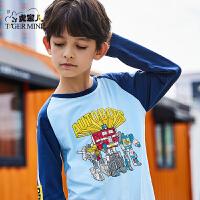 【2件3折:47.7元】小虎宝儿男童纯棉长袖t恤变形金刚2021款儿童打底衫洋气
